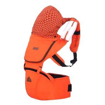 Aiebao เป้อุ้มเด็ก ที่นั่งคาดเอว hipseat+carrier รุ่น Josh (Orange)