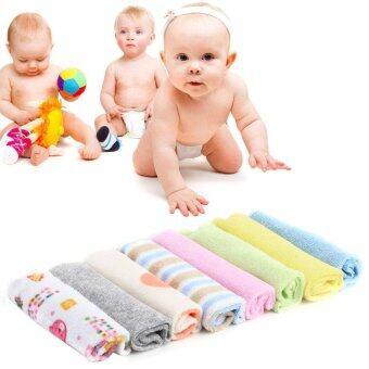 USTORE 8ชิ้นผ้าผ้าขนหนูเด็กทารกแรกเกิดกินน้ำล้างผ้านิ่ม