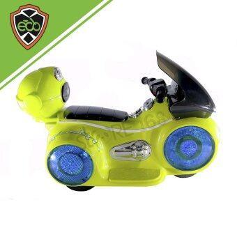 Ecoline รถเด็กเล่นไฟฟ้า รถมอเตอร์ไซค์เด็ก สีเขียว