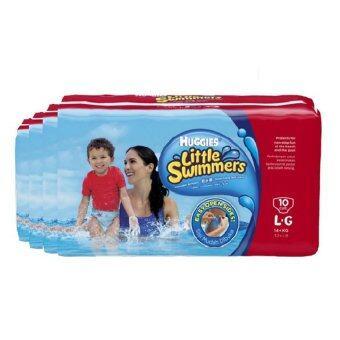กางเกงผ้าอ้อม สำหรับว่ายน้ำ Huggies - Little Swimmers ไซส์ L 10 ชิ้น (4แพ็ค)