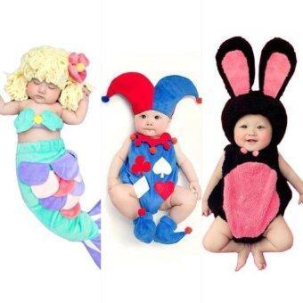 BabyGaga ชุดแฟนซีเด็กทารกเงือกน้อย-โจ๊กเกอร์-กระต่ายน้อย Little Mermaid & Joker &Bunny Fancy Costume
