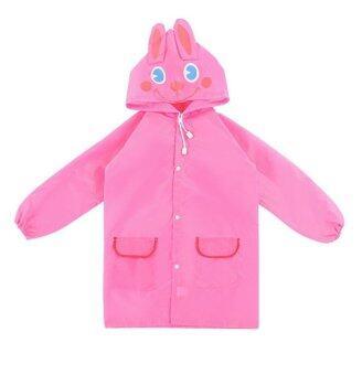 T-Toys เสื้อกันฝนเด็ก ลายกระต่ายสีชมพู