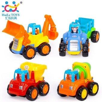 Huile Toy ชุดเซ็ทรถบรรทุก 4 ชิ้น Friction Power Truck