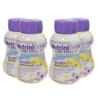 Dumex Nutricia NutriniDrink นิวทริเซีย นิวทรินี่ดริ๊ง รสวานิลา 200 ml 4 ขวด/Pack (3 Pack)