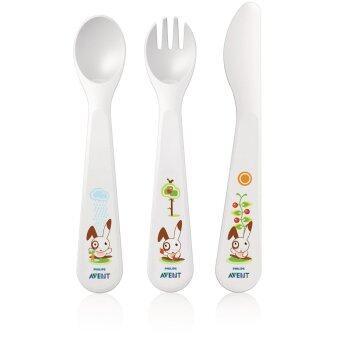 AVENT ช้อน ส้อม และมีดสำหรับเด็กวัย 18 เดือนขึ้นไป - Toddler Fork ,Spoon & Knife 18M+