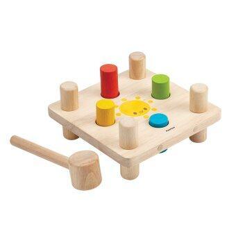 PlanToys ของเล่นไม้ Hammer Peg ชุดค้อนตอกสอนสี