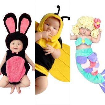 BabyGaga ชุดแฟนซีเด็กทารกผึ้งน้อย-เงือกน้อย-กระต่าย Bumble Bee & Little Mermaid & Bunny Fancy Costume