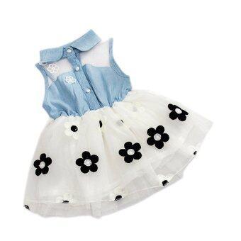 Baby Girl Summer Fashion Dress (White) - Intl