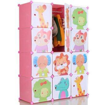 2Smile DIY ตู้เสื้อผ้าเด็ก 12 ช่อง (สีชมพู) image