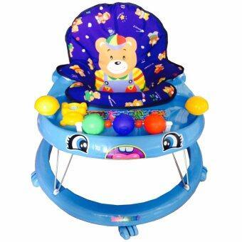 K.baby รถหัดเดิน เบบี้เเชมป์ พร้อมเสียงดนตรี + กระบะของเล่น สำหรับเด็กชาย สีฟ้า