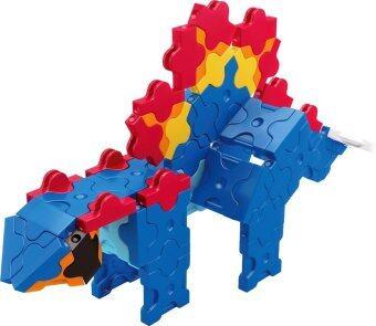 LaQ Dinosaur World Mini Stegosaurus สำหรับเด็กผู้ชาย - สีน้ำเงิน