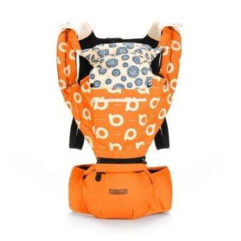 Aiebao เป้อุ้มเด็ก ที่นั่งคาดเอว hipseat+carrier รุ่น Premium Graffiti (Orange)