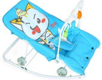 Attoon เปลโยกหนัาแมว - สีฟ้า