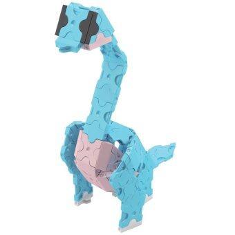 LaQ Dinosaur World Mini Brachiosaurus สำหรับเด็กผู้ชาย - สีฟ้า