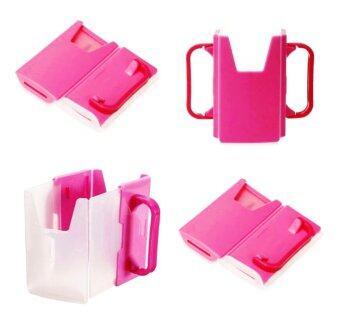 กล่องกันบีบนม-น้ำผลไม้ #สีชมพู