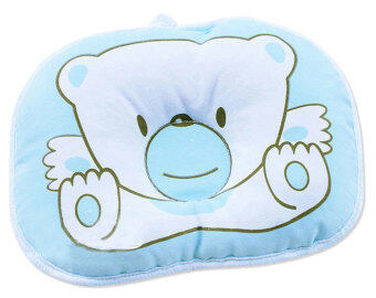 niceEshop Blue Bear Soft Cotton Baby Infant Toddler Sleeping Flat Head Support Pillow Positioner