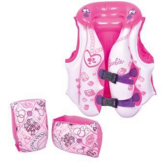 FUN - JILONG Barbie ชุดอุปกรณ์เล่นน้ำสำหรับเด็กแบบเป่าลม