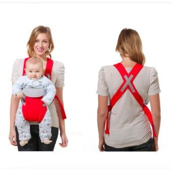 Breathable Fabric Backpack Sling Baby Carrier Comfortable Design (Red) - intl