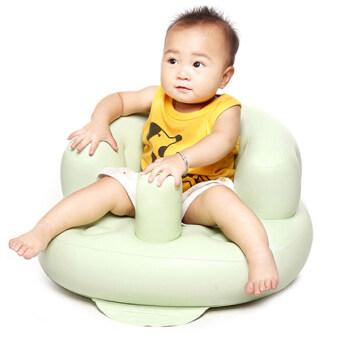 HANG-QIAO เก้าอี้โซฟาเด็กแบบพกพาความหนายางนั่งอาบน้ำ (สีเขียวอ่อน)