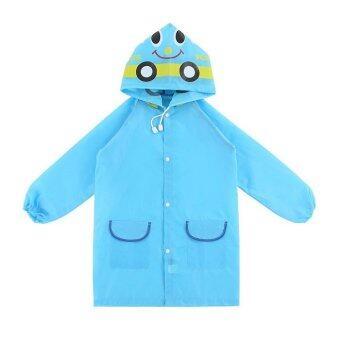 เสื้อกันฝนสำหรับเด็ก Funny Rain Coat (ลายรถสีฟ้า)
