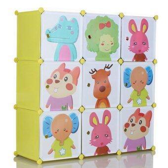 2Smile DIY ตู้เสื้อผ้าเด็ก 9 ช่อง (สีเหลือง) image
