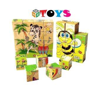 ONE TOYS ของเล่นไม้ บล็อกไม้ลูกเต๋า ต่อได้ 6 ด้าน คละลายจำนวน 1 ชิ้น (image 0)