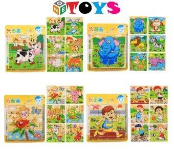 ONE TOYS ของเล่นไม้ บล็อกไม้ลูกเต๋า ต่อได้ 6 ด้าน คละลายจำนวน 1 ชิ้น (image 1)