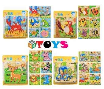ONE TOYS ของเล่นไม้ บล็อกไม้ลูกเต๋า ต่อได้ 6 ด้าน คละลายจำนวน 1 ชิ้น (image 2)