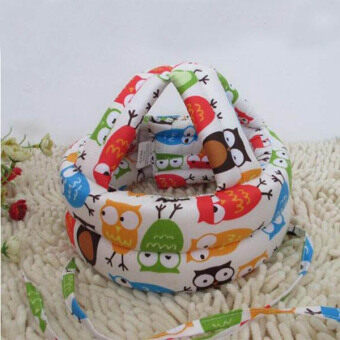 Baby walk Toddler Infants No Bumps Safety Warm Cap/Hat protect Baby head Helmet Head Guard Owl(white) - Intl