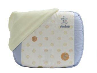 Aprica หมอนยางพาราระบายอากาศ รุ่น Infant Latex Pillow Short - สีฟ้า