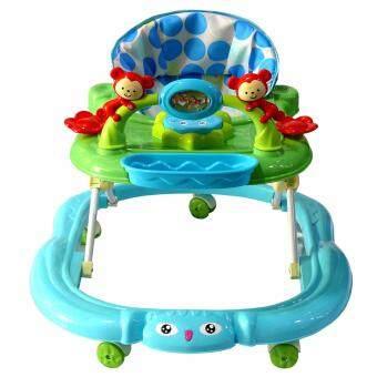 FOY รถหัดเดินตัวการ์ตูนลิงน้อย ปรับระดับได้ มีเสียงดนตรี (สีฟ้า)