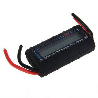 DHS Digital LCD Watt Meter Battery Voltage Current Power Analyzer Tester Black - Intl