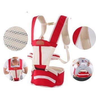 สีแดง มัลติฟังก์ชั่ ระบายอากาศได้ ไหล่คู่ Baby Carrier ผู้ให้บริการทารก เอว เข็มขัด with เอว ม้านั่ง - intl