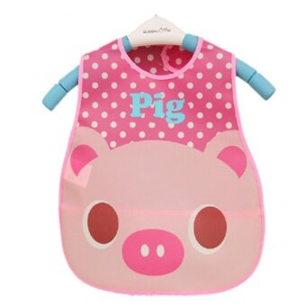 Jiayiqi Fashion Cartoon Baby Soft Bibs Waterproof Burp Cloths For Children Self Feeding Care - intl