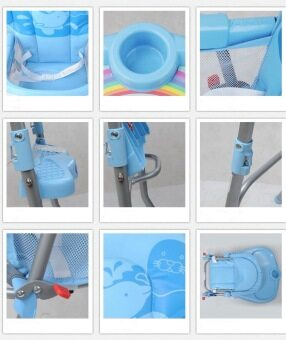 Happy Baby เก้าอี้ทานข้าว รุ่น 217C - Blue (image 2)