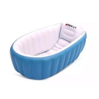 Achute อ่างอาบน้ำเด็ก แบบเป่าลม (สีฟ้า)