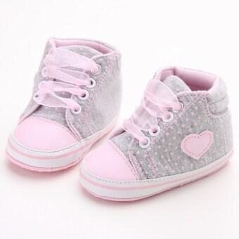 สีชมพูอ่อนพื้นรองเท้าผ้าใบเด็กแรกเกิดร้อนรองเท้าหุ้มส้นรองเท้าผู้หญิงผู้ชายเด็กตามแฟลต S1615 (image 0)
