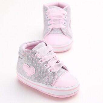 สีชมพูอ่อนพื้นรองเท้าผ้าใบเด็กแรกเกิดร้อนรองเท้าหุ้มส้นรองเท้าผู้หญิงผู้ชายเด็กตามแฟลต S1615 (image 2)