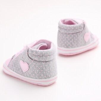 สีชมพูอ่อนพื้นรองเท้าผ้าใบเด็กแรกเกิดร้อนรองเท้าหุ้มส้นรองเท้าผู้หญิงผู้ชายเด็กตามแฟลต S1615 (image 3)