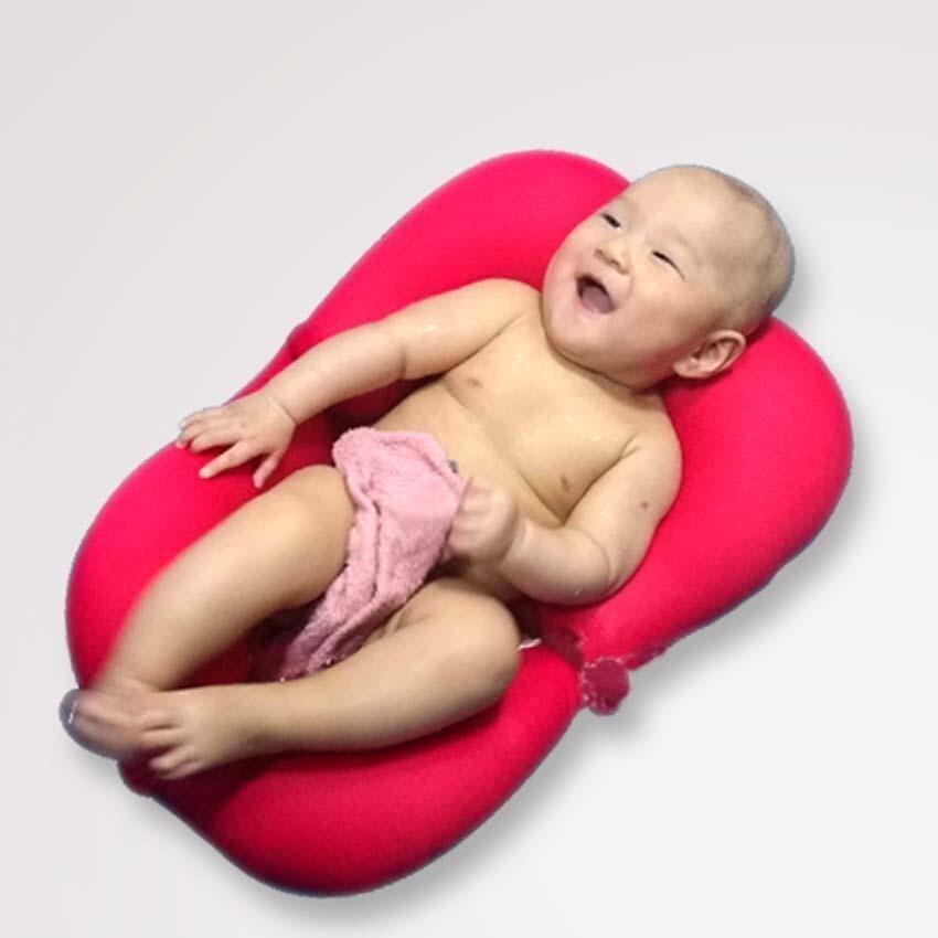 Infant Air Cushion Bed Babies Baby Bath Pad Newborn Baby Bath Shower Mat Non-slip Bathtub Mat - intl