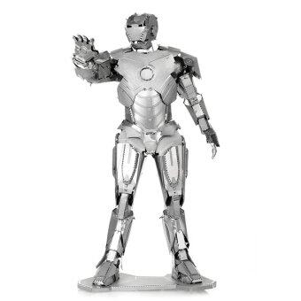 IRON MAN Fun 3d Metal Diy Steel Scale Miniature Model Adults Hobby Creative Puzzle Toys Kits Kids