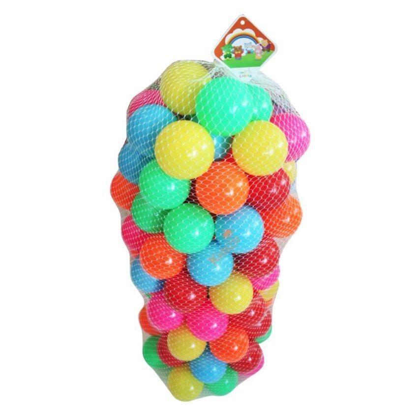 Kidsza ลูกบอล100ลูกปลอดสารพิษ รุ่นเนื้อหนาหลากสี ขนาด3นิ้ว