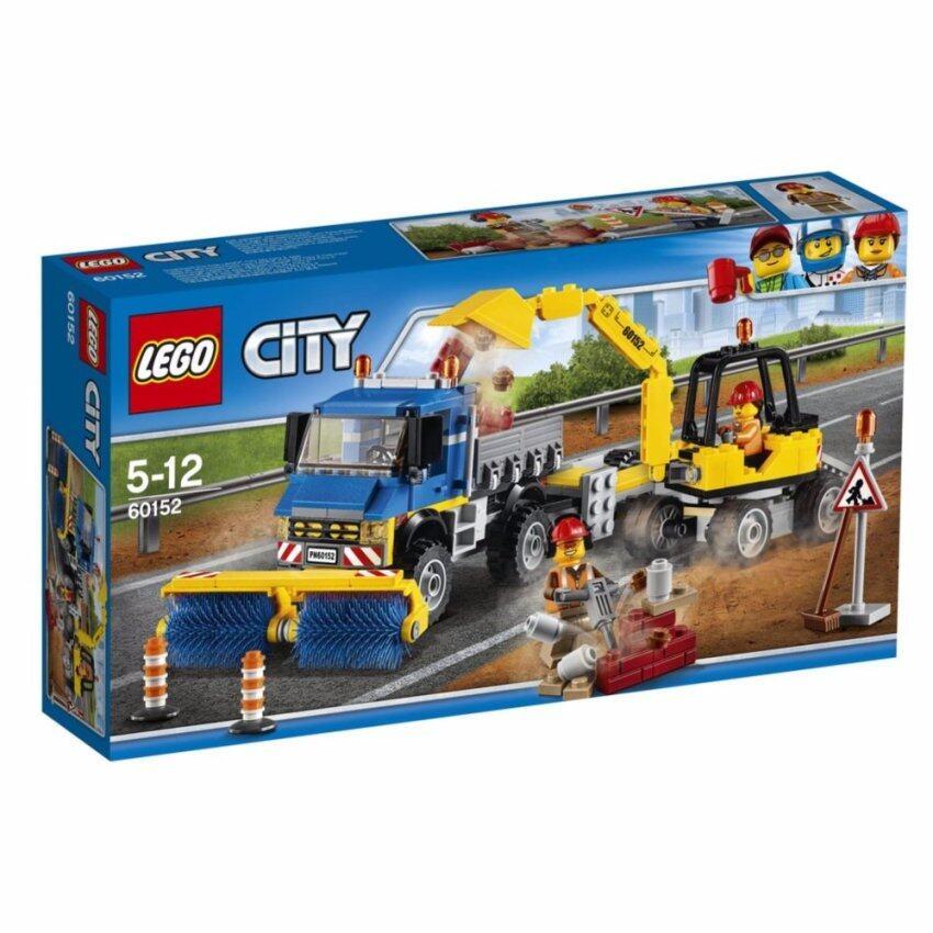 LEGO City Great Vehicle Sweeper & Excavator - 60152 ฟรี! Poly bag city vehicle
