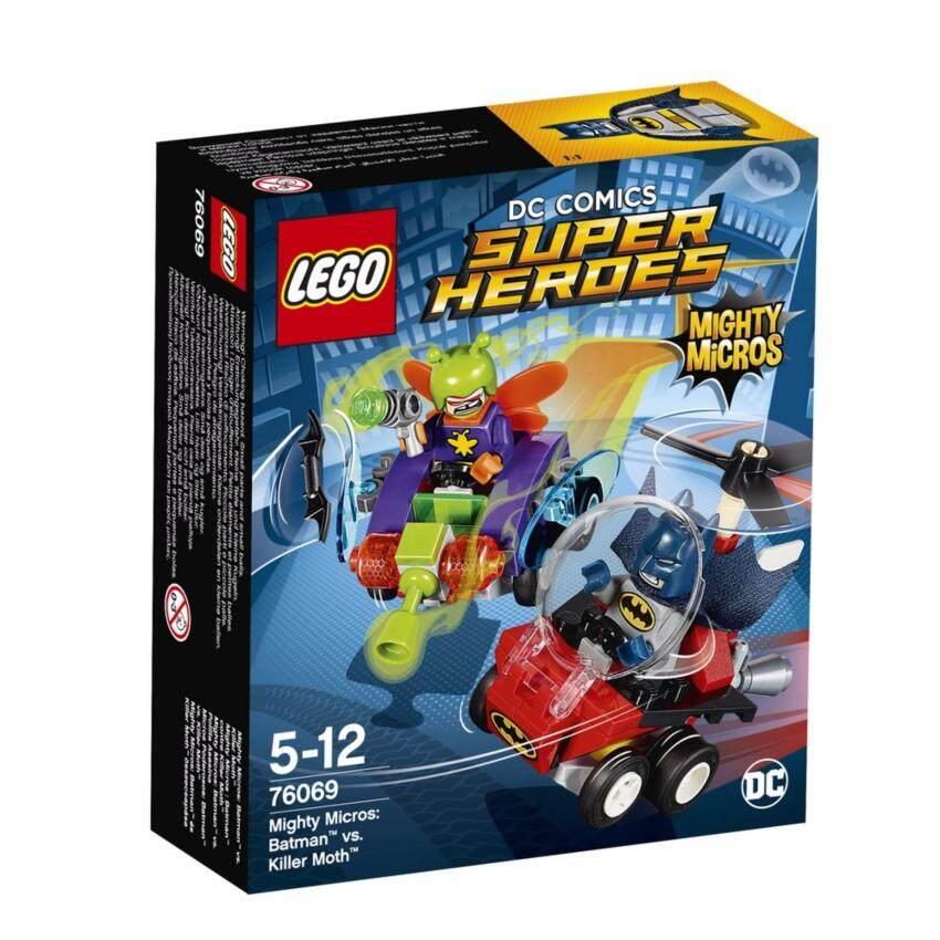 LEGO ตัวต่อเสริมทักษะ เลโก้ซุปเปอร์ ฮีโร่ไมค์ตี้ ไมโคร แบทแมน เวอร์ซัซ คิลเลอร์ มอท Mighty Micros: Batman™ vs. Killer Moth™ - 76069