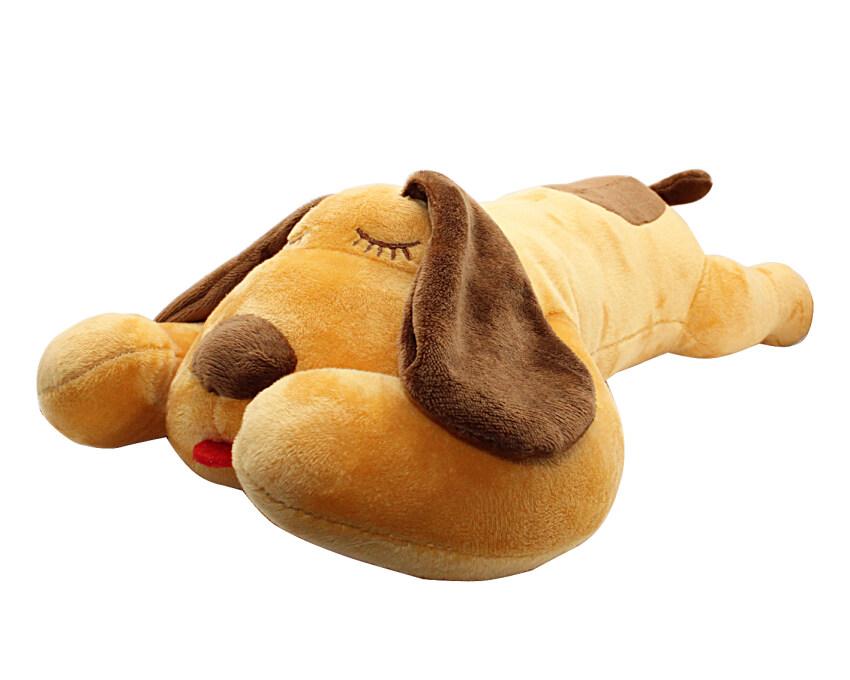 Lying Yellow Dog Stuffed Animals Plush Soft Toy 40CM Length