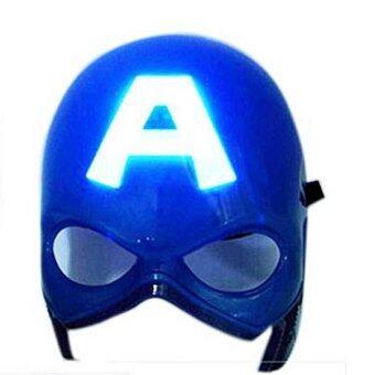 Mirage-Shop หน้ากาก LED กัปตันอเมริกา แบบมีไฟ - สีฟ้า