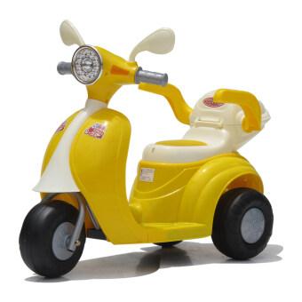 Monkey Toys รถสามล้อ ไฟฟ้า เวสป้า (สีเหลือง)