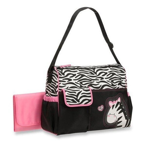 Multifunctional Baby Diaper Changing Mummy Handbag Giraffe Pattern Pink