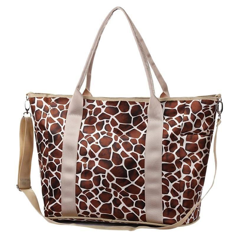 Multifunctional Large Capacity Diaper Tote Bag Cross Body Baby Nappy Bag for Moms (Brown ...