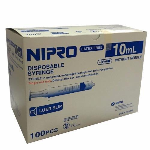 Nipro ไซริ้ง ไม่ติดเข็ม สำหรับป้อนยาเด็ก ขนาด 10 ml. กล่องละ 100 ชิ้น